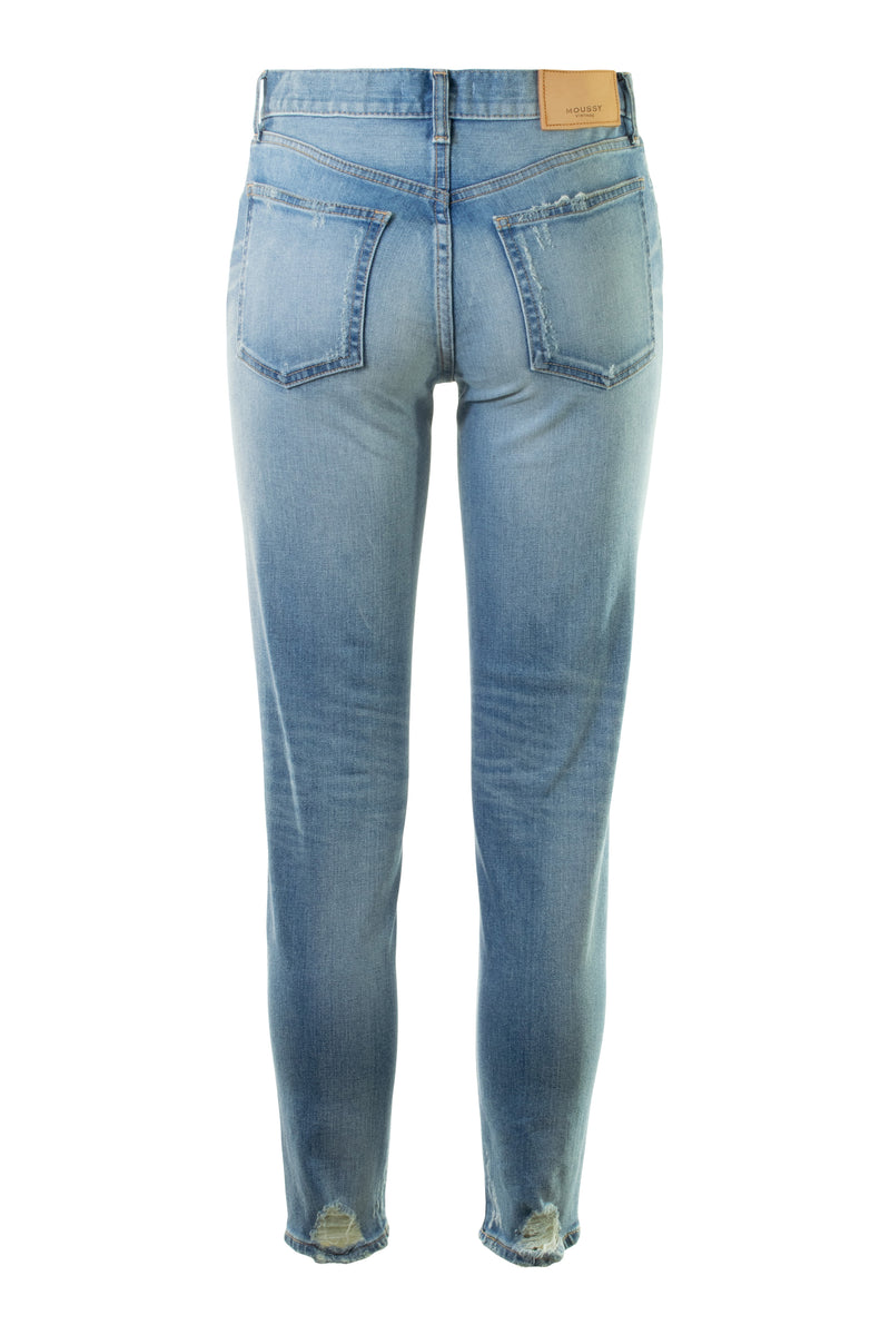 Moussy Velma Skinny in Blue