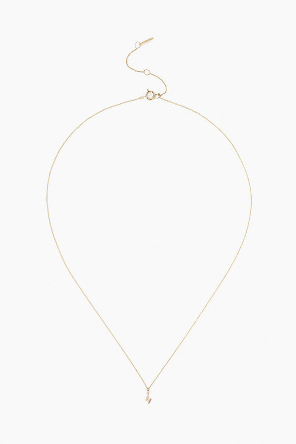 Chan Luu 14k Gold Bolt Necklace With Diamond Inlay  in Yellow Gold