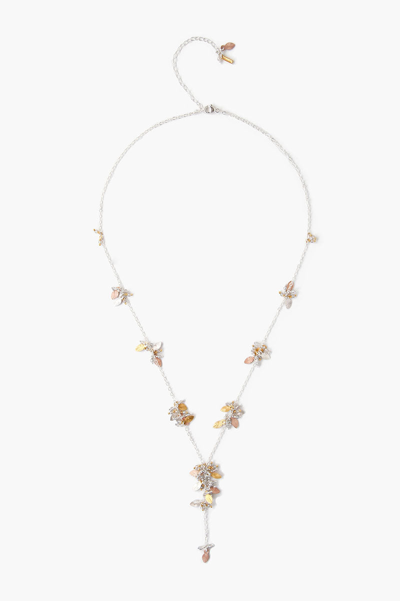 Chan Luu Multi Leaf Cluster Necklace in Silver