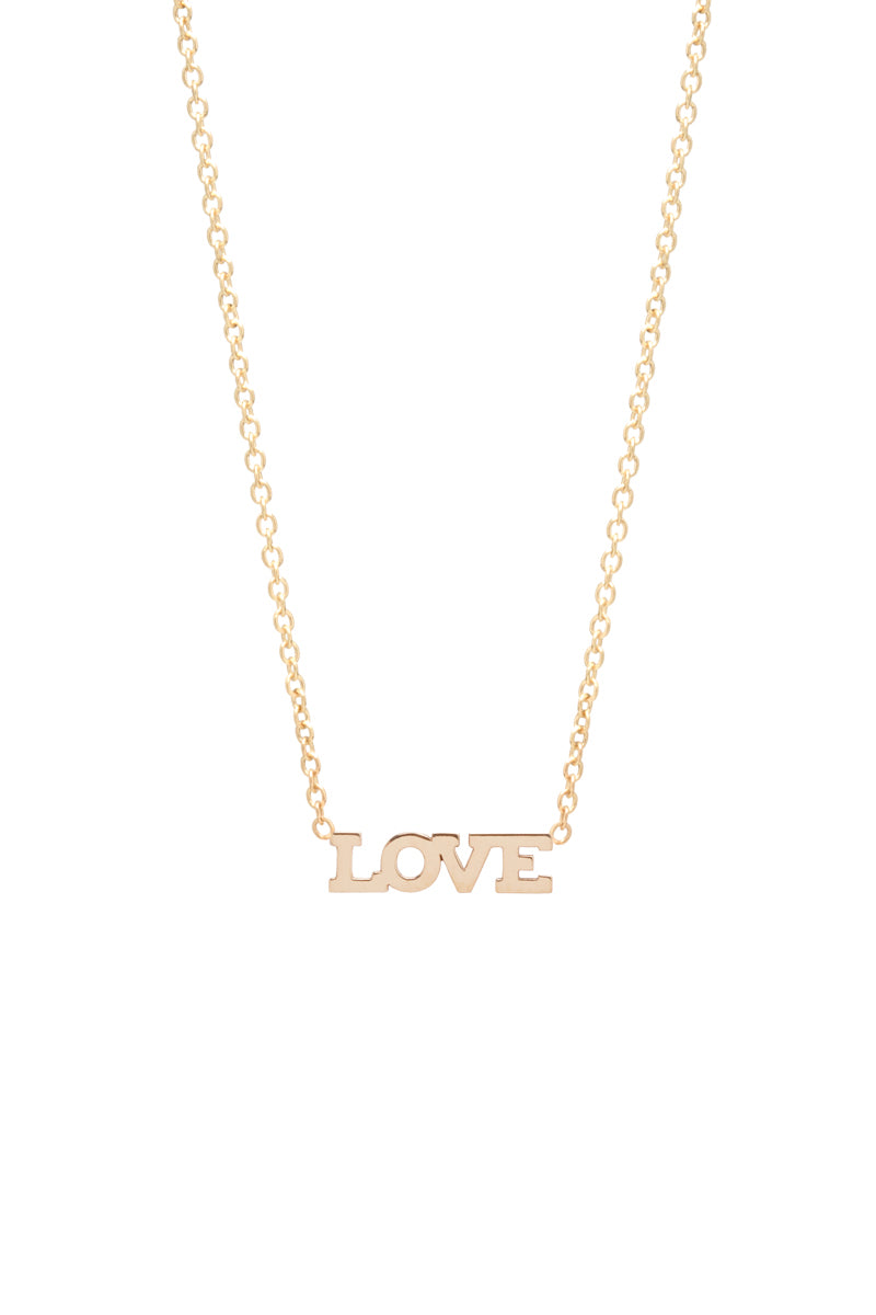 Zoe Chicco 14K Gold Itty Bitty Love Necklace