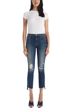 MOTHER Denim The Insider Crop Step Fray in Wicked Wildflower