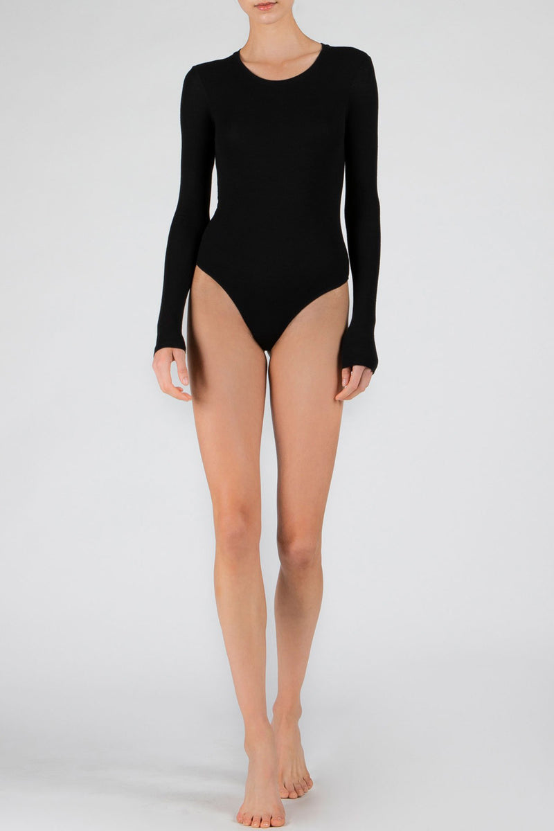 ATM Modal Rib Long Sleeve Bodysuit