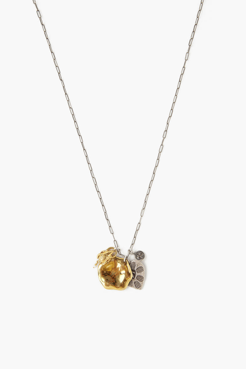 Chan Luu Silver and Gold mix charm necklace