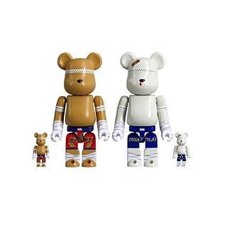 Bearbrick Muay Thai 400% + 100% set - Thailand Exclusive