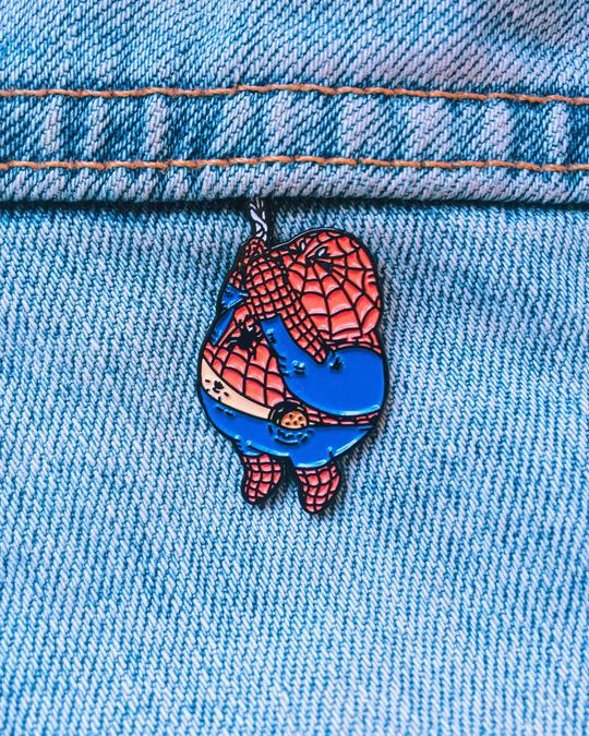 Chunky Spiderman Enamel Pin