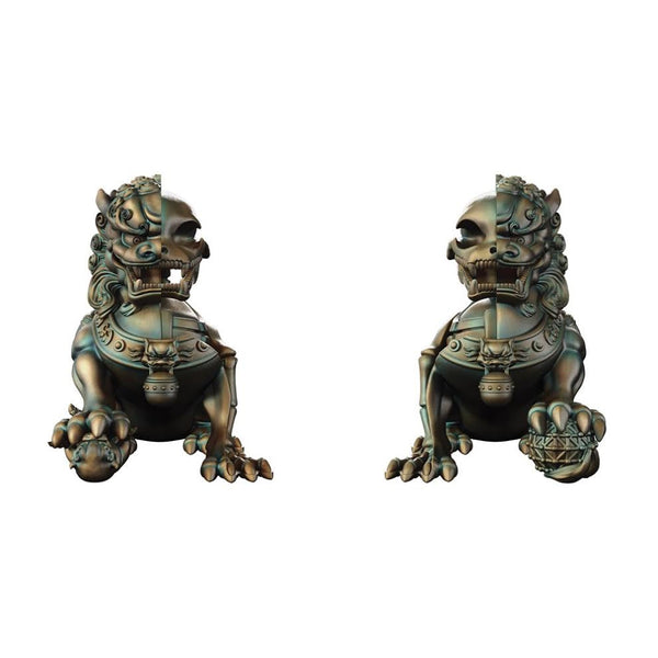 "XXRay Plus: Foo Dogs 8"" Vinyl Figure Set - Left and Right"