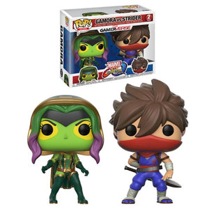 POP! Marvel vs Capcom: Gamora vs Strider 2 pack