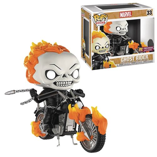 POP! Rides - Marvel Ghost Rider: PX Exclusive Ghost Rider with Bike #33