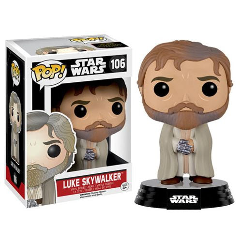 POP! The Force Awakens: Luke Skylwalker (Bearded) Bobble Head Vinyl Figure