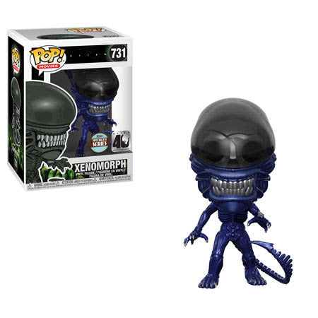 POP! Movies - Aliens 40th Anniversary: Blue Metallic Xenomorph Specialty Series #731