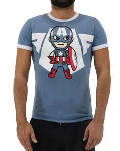 Captain America Emblem Men's Tee
