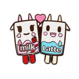Strawberry Milk and Latte Enamel Pin