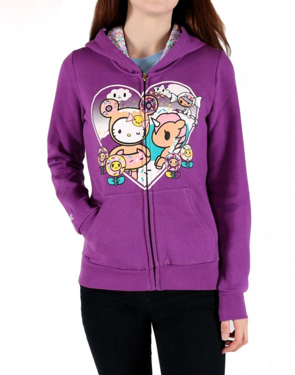 Sweet Heart Kitty Woman's Hoodie