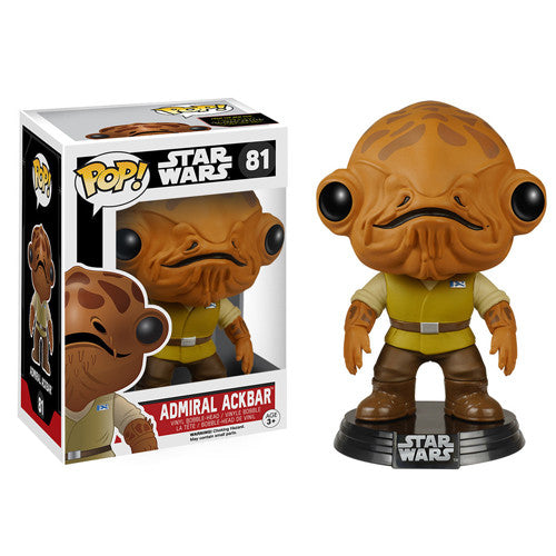 POP! The Force Awakens: Admiral Ackbar Bobble Head Vinyl Figure