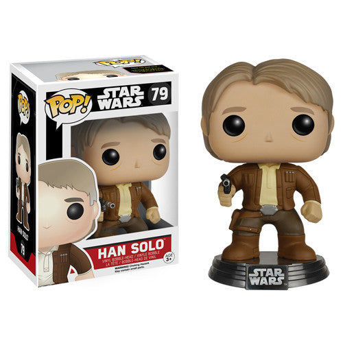 POP! The Force Awakens: Han Solo Bobble Head Vinyl Figure