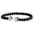 Black & Silver Dumbbell Bracelet