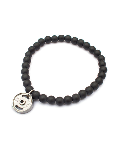 Black & Silver Weight Plate Bracelet
