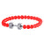 Red Dumbbell Bracelet