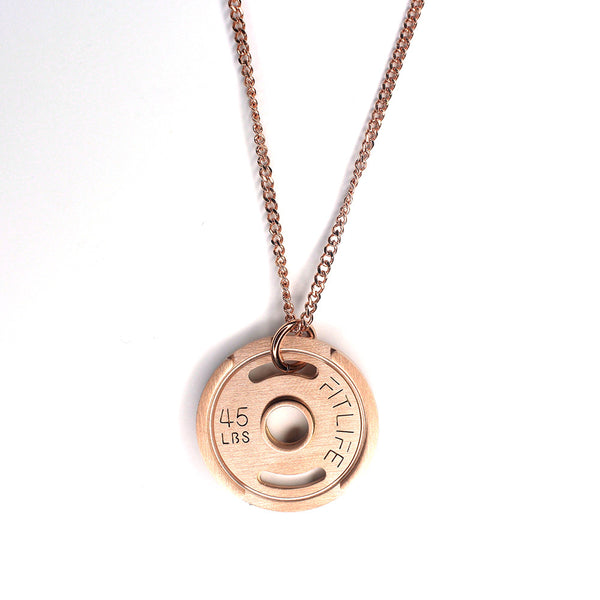 Rose Gold Weight Plate Necklace