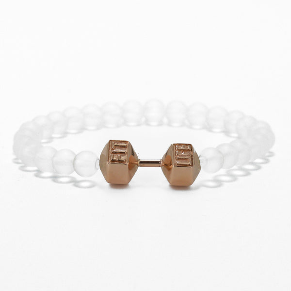Rose Gold Dumbbell Bracelet