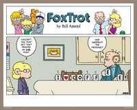 "Signed Print - ""Coffee Heart"" - FoxTrot comic strip by Bill Amend"