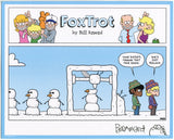 FoxTrot comic strip merch by Bill Amend - Signed Print: Printer Wonderland | 3D Printing, Snow, Winter, Snowman, Jason, Marcus, Comics