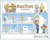 FoxTrot comic strip merch by Bill Amend - Signed Print: Snowmanitoba | Manitoba, Snow, Winter, Snowman, Paige, Jason