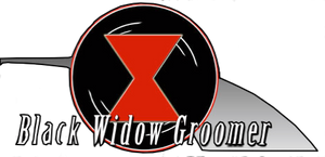 Black Widow Groomer Logo