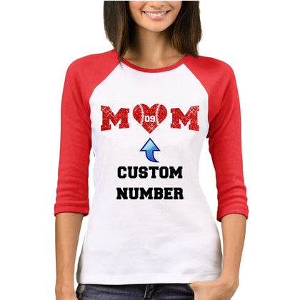 Baseball Mom w/child's number