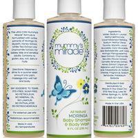 Mummy's Miracle Moringa Baby Shampoo and Wash 8oz All Natural Hypoallergenic Toxic-free