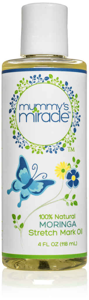 Mummy's Miracle Stretch Mark Oil 4oz 100% Natural Toxic-free Hypoallergenic