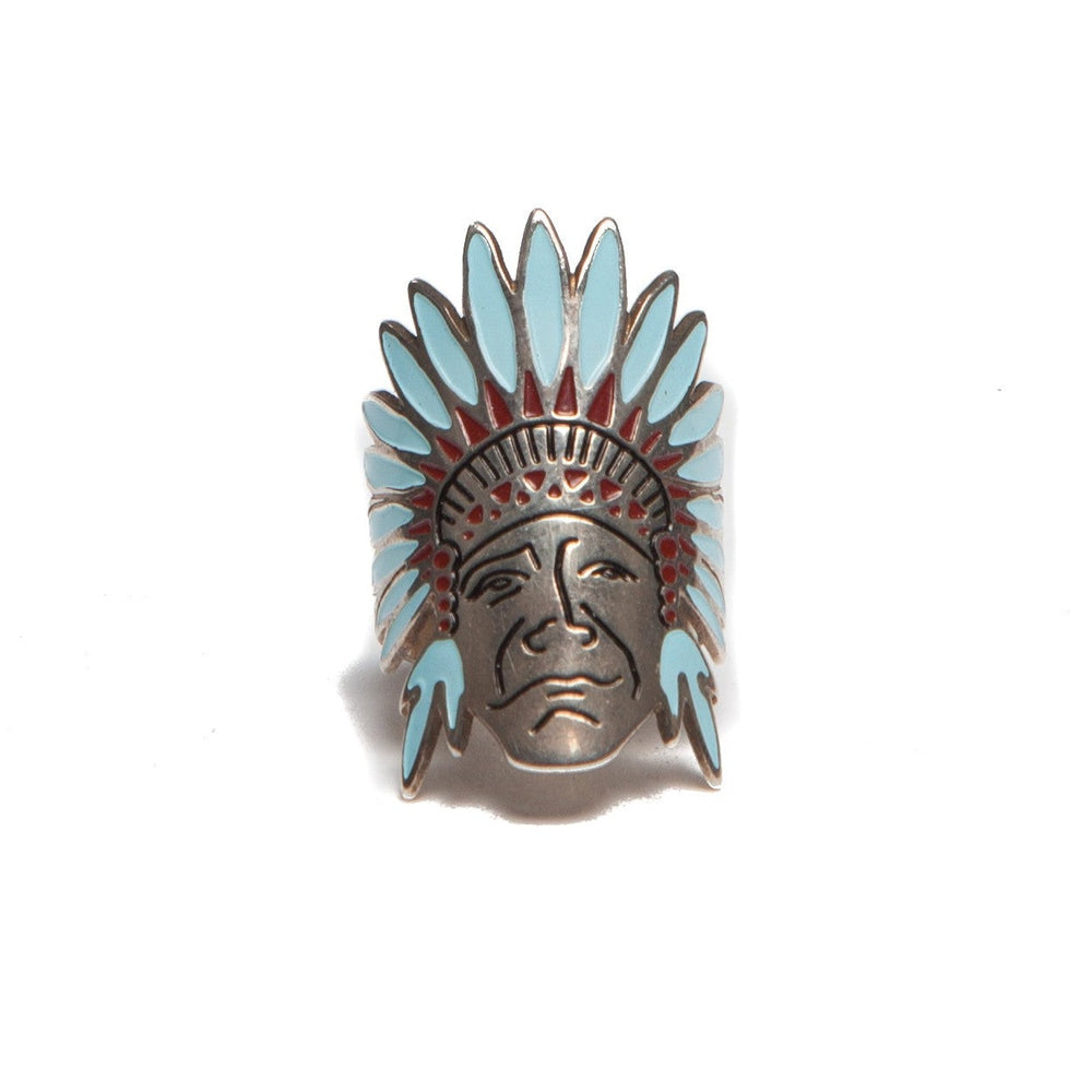 Silver Enamel Plated Indian Ring