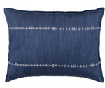 Coral & Tusk Stitch Stripe Indigo Pillow