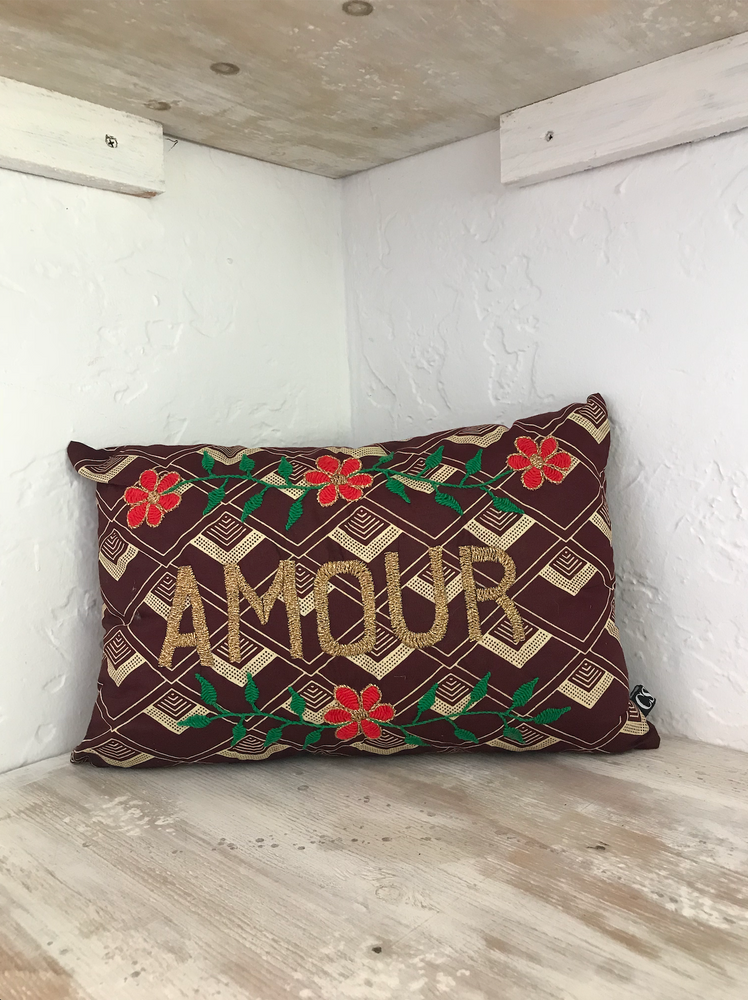 Brown AMOUR Pillow