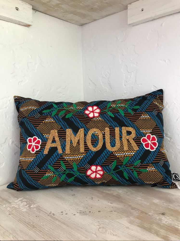 Multicolor AMOUR Pillow