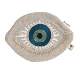 Coral & Tusk Evil Eye Pouch