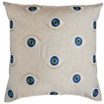 Coral & Tusk Evil Eye Pillow