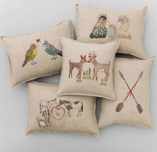 Coral & Tusk Parakeet Love Pillow