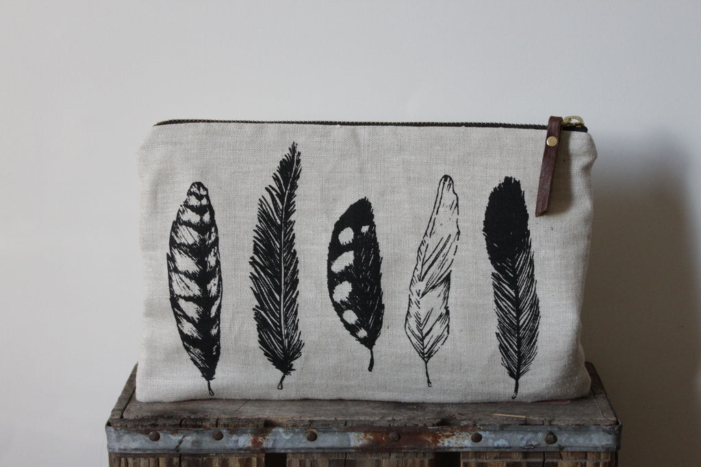 Large Pouch - Feather