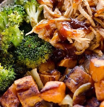 BBQ Chicken & Sweet Potato Bowl