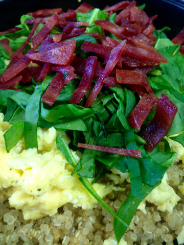 Quinoa And Egg Scramble Bowl