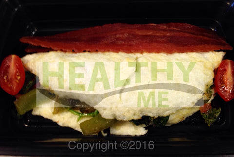 Veggie Egg White Omelette With Turkey Bacon