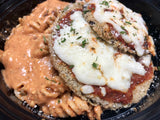 Eggplant Parmesan with Whole Wheat Pasta