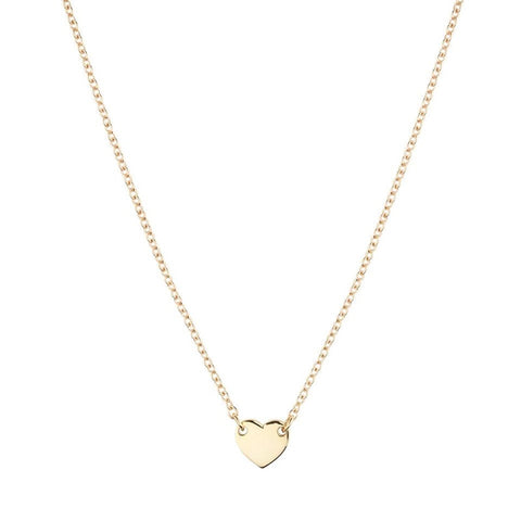 Linda Tahija Itsy Bitsy Heart Necklace Yellow Gold