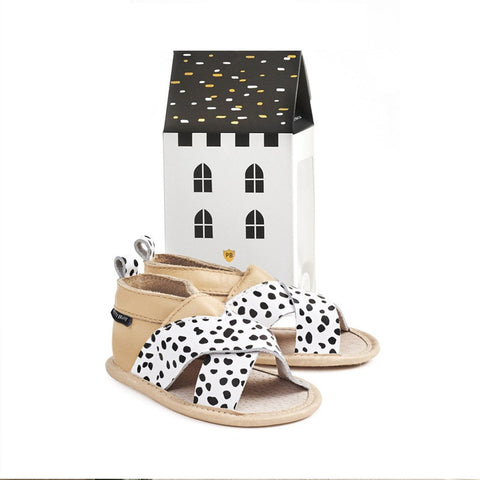 Pretty Brave Criss Cross Wild Spots Sandals
