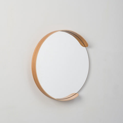 Citta Segment Mirror Oak Large