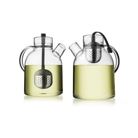 Menu Kettle TeaPot Glass With Tea Egg 1.5L