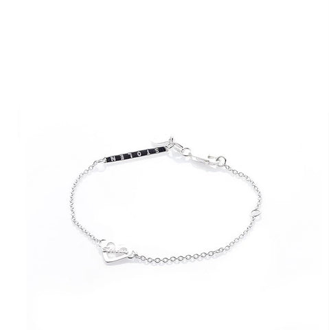 Stolen Girlfriends Club Heart Script Bracelet