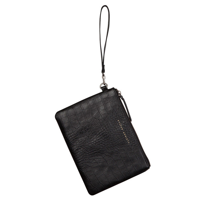 Status Anxiety Fixation Wallet - Black Croc