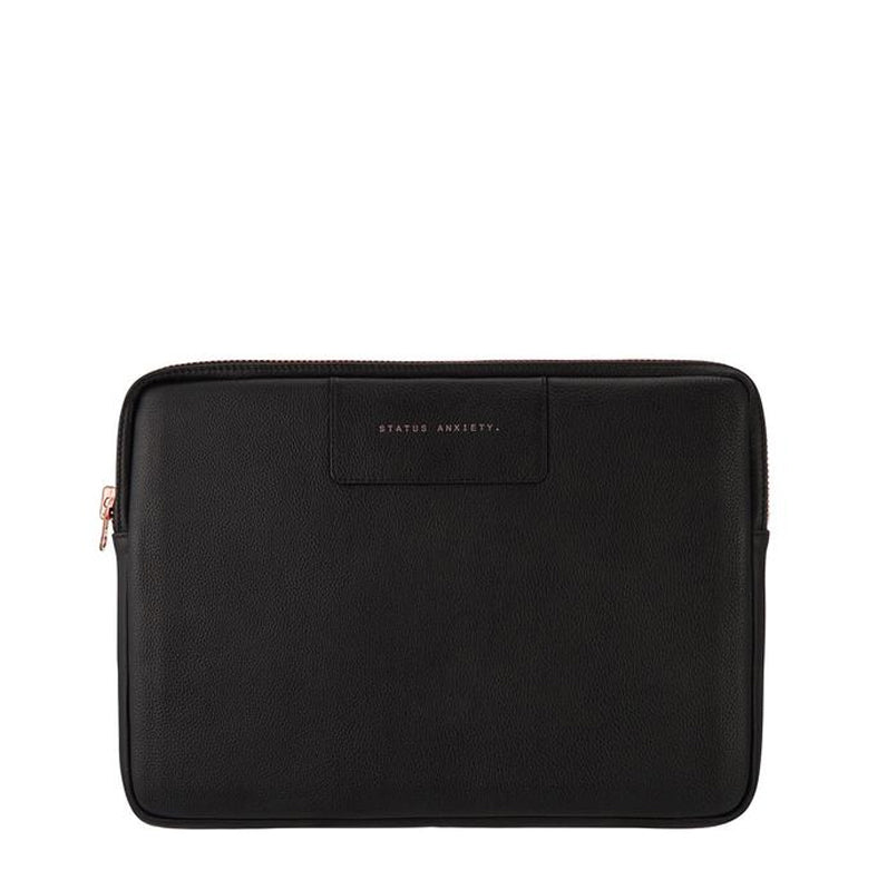 Status Anxiety Before I Leave Laptop Case Black/Rose Gold
